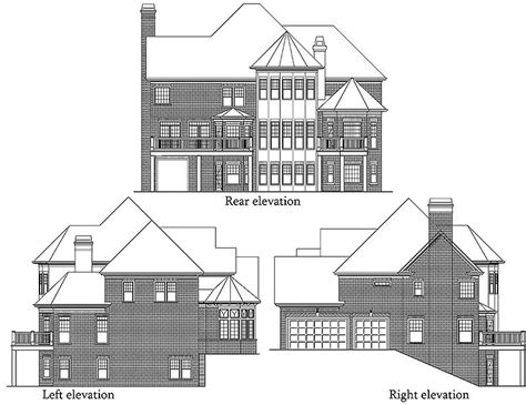 luxury house plans with elevators elevator all your own 7207ds 2nd floor master suite