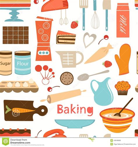 Kitchen Layout Tool Free baking wallpaper stock vector image 44648668
