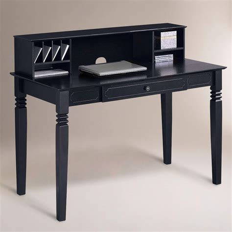 Black Douglas Desk With Hutch World Market Black Desk With Hutch