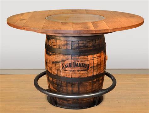 amish whiskey barrel table ruff sawn whiskey barrel pub table