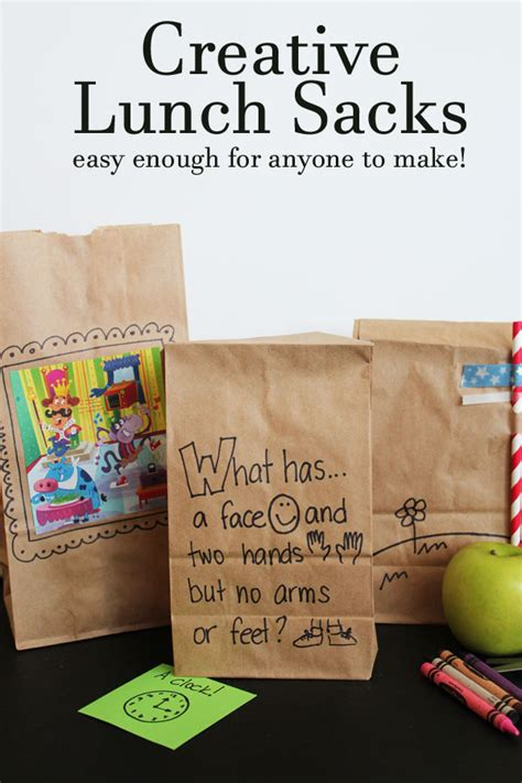 Decorating Brown Paper Bags For by Decorating Brown Bags Custom Lunch Looks Any Can