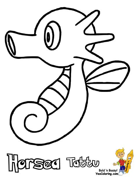 pokemon coloring pages of horsea horsea pokemon coloring pages sketch coloring page