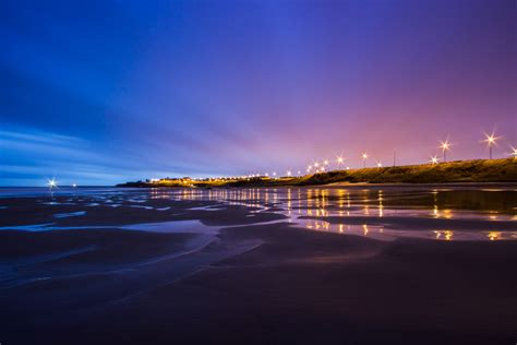 united kingdom england north sea tide beach coast lighting