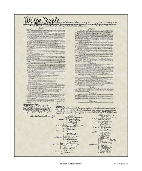 printable us constitution historic wall art united states constitution print