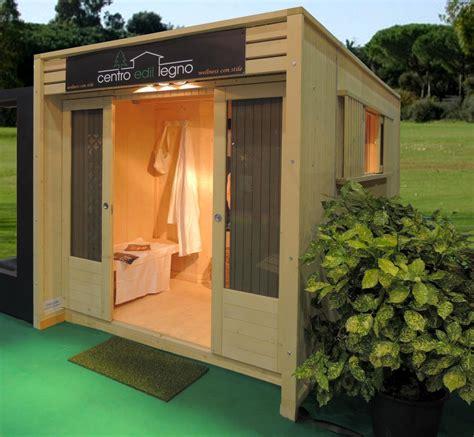 sauna da giardino casa benessere