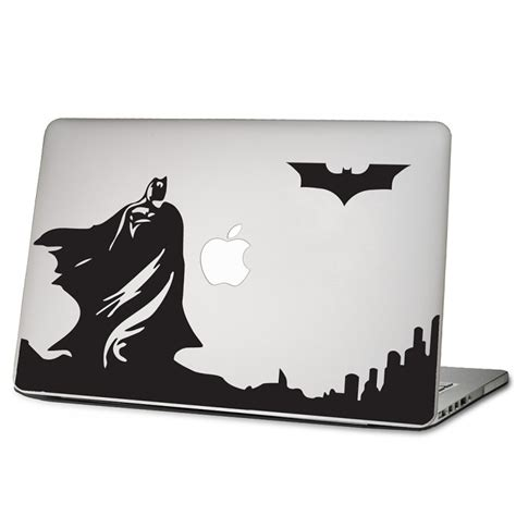 Macbook Aufkleber Superman by Batman Skyline Laptop Macbook Sticker Aufkleber