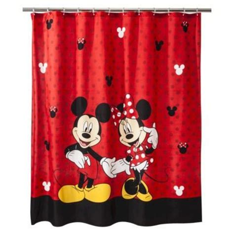 disney shower curtains disney mickey minnie shower curtain from target disney