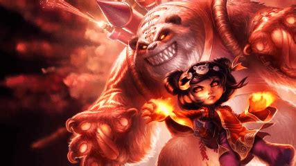panda annie league  legends animated wallpaper