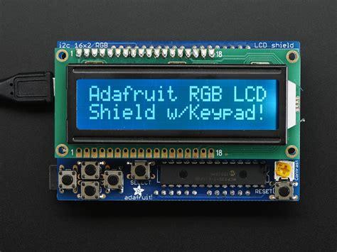 Raspberry Pi Rgb Lcd 1602 Shield rgb lcd shield kit w 16x2 character display only 2 pins