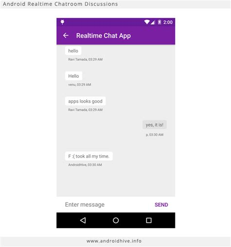 chat on android android gcm chat php