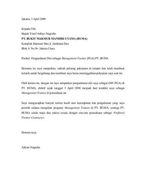 surat pengunduran diri surat pengunduran diri contoh
