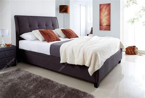 Fabric Ottoman Storage Beds Linea Design Kaydian Accent Fabric Ottoman Storage Bed