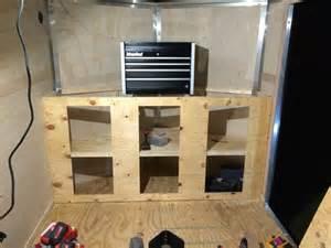 Enclosed Dvd Cabinet V Nose Trailer Cabinet Stuff I Built Pinterest Cargo