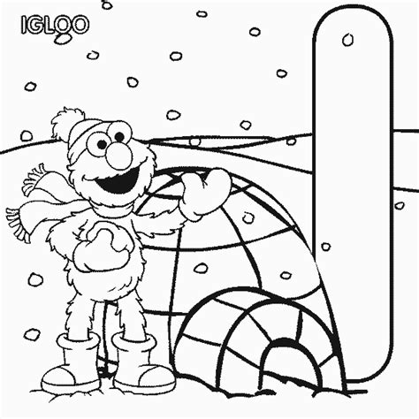 coloring pages sesame street alphabet igloo letter i sesame street alphabet coloring page