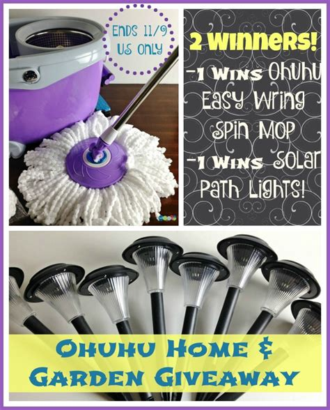 Home And Garden Giveaway - win ohuhu home and garden giveaway us ends 11 9