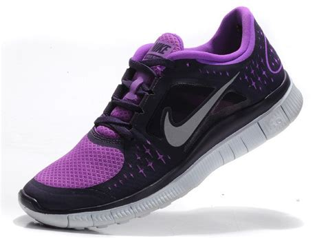 purple and black nike running shoes nike outlet nike free run 3 womens running shoes black
