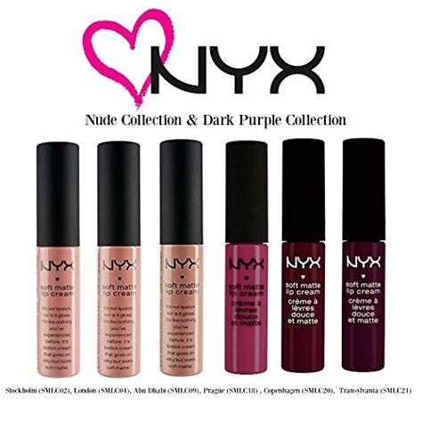 Lipstik Nyx Dan La lipstick nyx soft matte lip collection 1 purple collection ebay