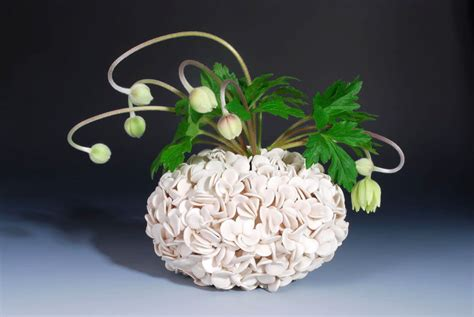 thousand petal vase handmade ceramics home decorating