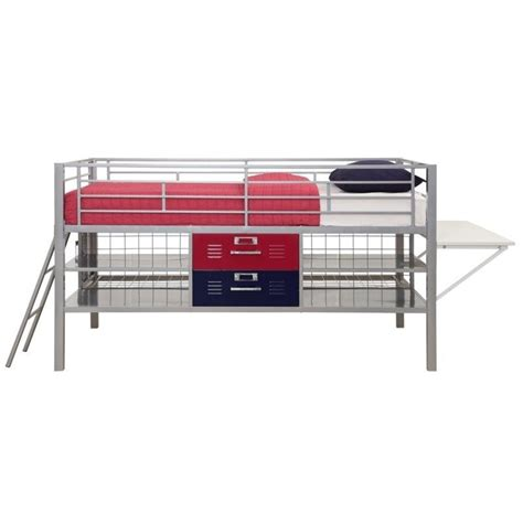 locker bed dhp junior metal loft locker storage bed in and