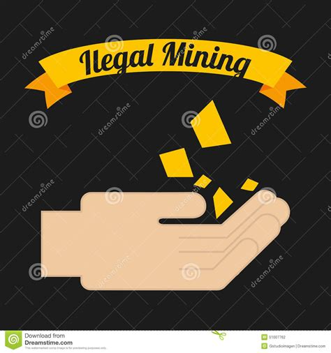 design mine graphics ilegal mining stock vector image 51007762