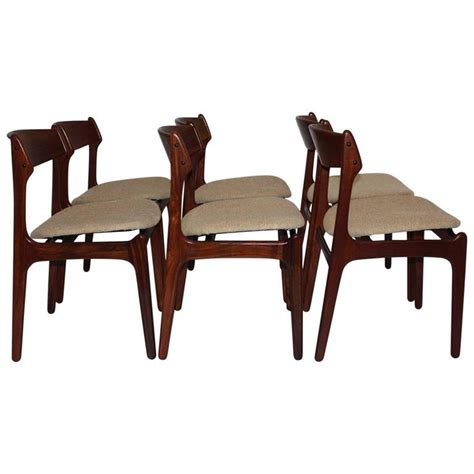 set of six dining room chairs by erik buck 1967 denmark