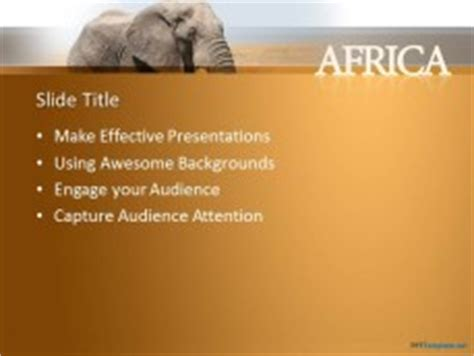 elephant powerpoint template free elephant ppt template