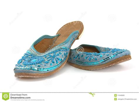 indian slippers indian style slippers stock image image of isolated