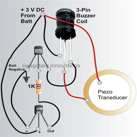 bicycle musical horn circuit  mm piezo transducer