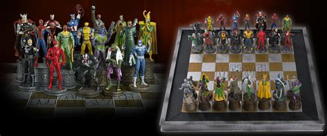 Chess Sets by Marvel Amp Dc Take Their Never Ending Rivalry To The Chess