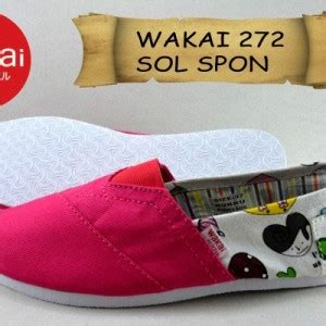 Sepatu Boot Spon sepatu wakai cewek murah sol spon grade ori 272