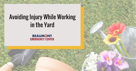 Avoiding Injury While Working in the Yard   Beaumont