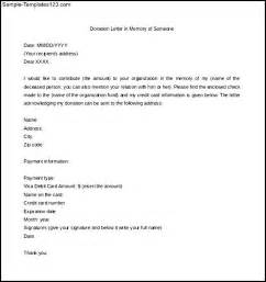 Charity Letter To Employees How To Write A Donation Letter In Memory Of Someone