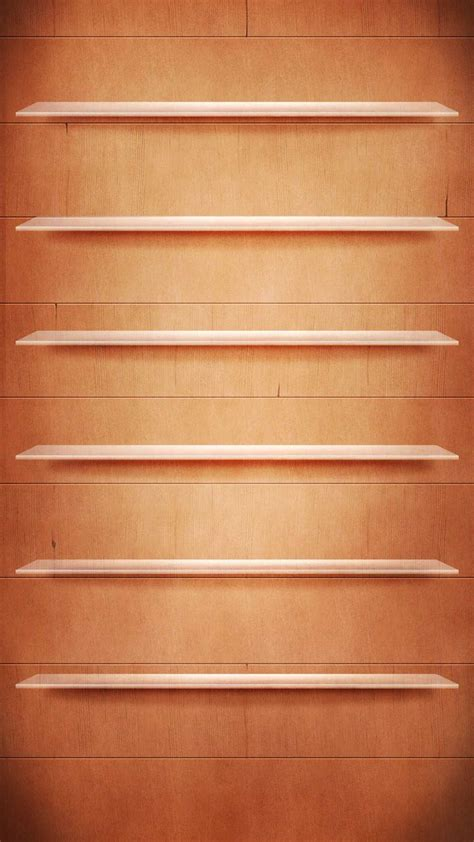 tap     app shelves wooden boards brown