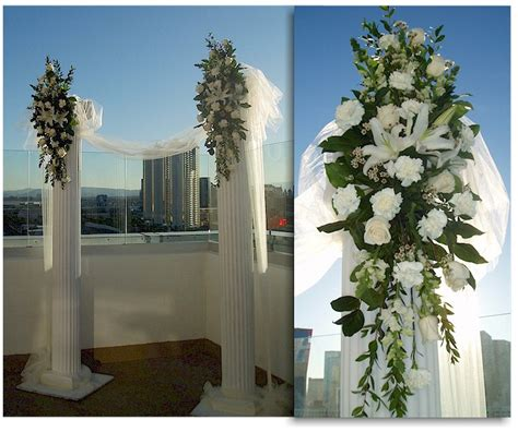 Columns For Decorations by Columns Wedding Florist For Las Vegas Nv