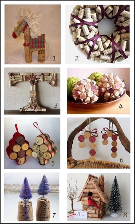 christmas ideas for wine corks do it yourself crafts with wine corks 40 pics
