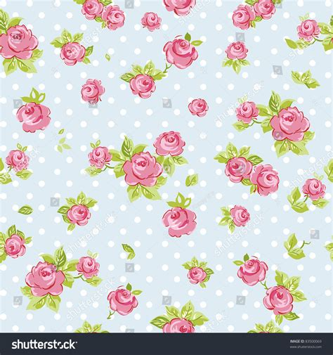 blue wallpaper pink roses elegance seamless wallpaper pattern pink roses 库存矢量图