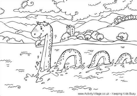 loch ness monster coloring pages loch ness monster colouring page pages to color