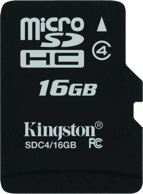 kingston 16 gb microsd card class 4 4 mb s memory card
