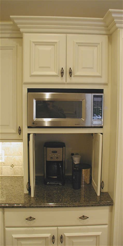 kitchen microwave cabinets cabinet details specialty cabinets traditional kitchen detroit by woodmaster kitchens