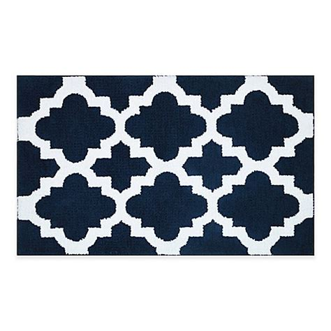 Navy And White Bath Rug Buy Adelaide Ombr 233 Striped 20 Inch X 33 Inch Bath Mat In Navy White From Bed Bath Beyond