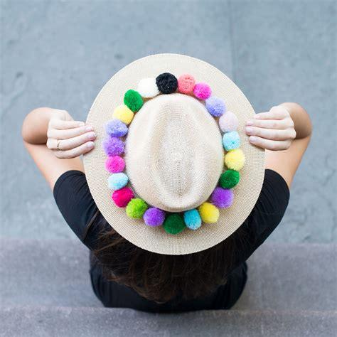 Pom Pom Hat pom pom hat bonjour blue