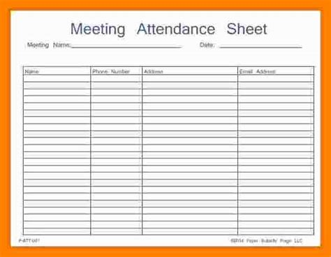 conference attendance report template 7 meeting attendance sheet student resume template