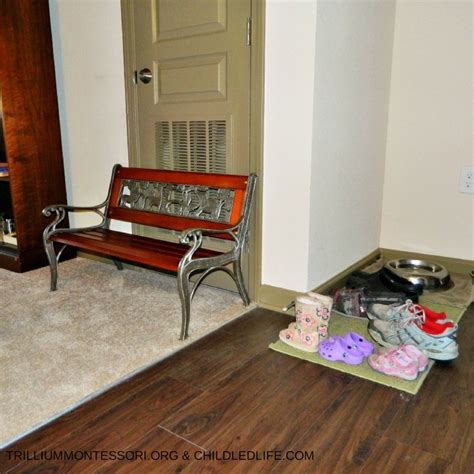 small space montessori setup introduction and entryway