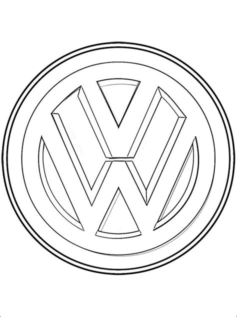 logo coloring pages free coloring pages of vw logo