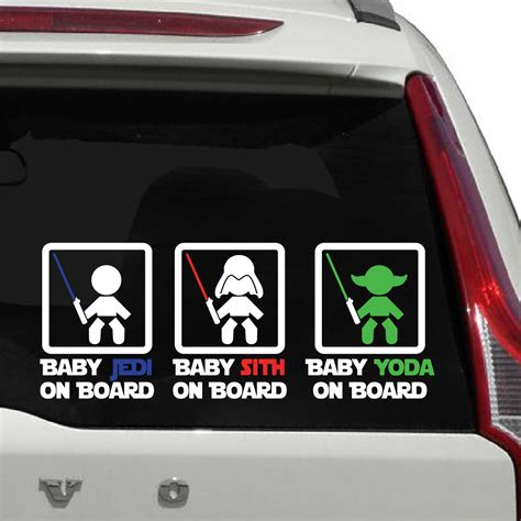 Autoaufkleber Baby Star Wars by Disney Star Wars Family Car Sticker Pictures To Pin On