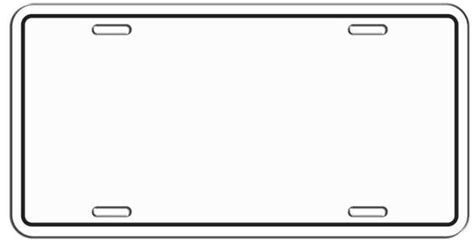 license plate template license plate drawing clipartxtras