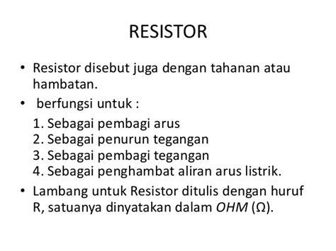 Resistor Tahanan 10 Ohm 0 25 Watt mengidentifikasi komponen