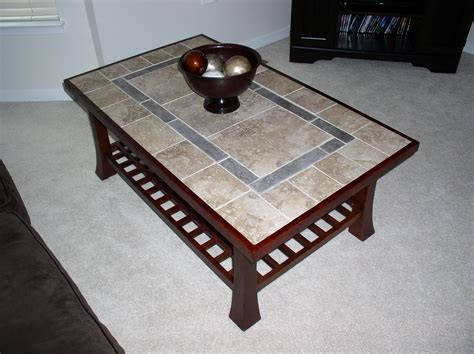 table refinish ideas refinished coffee table with a tile top and new wood