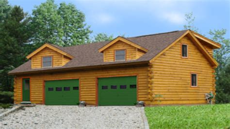 Cabin Plans With Garage by Log Home Plans With Garages Log Cabin Garage With