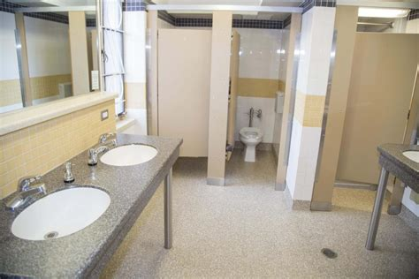community bathrooms in college sewall hall housing dining services university of